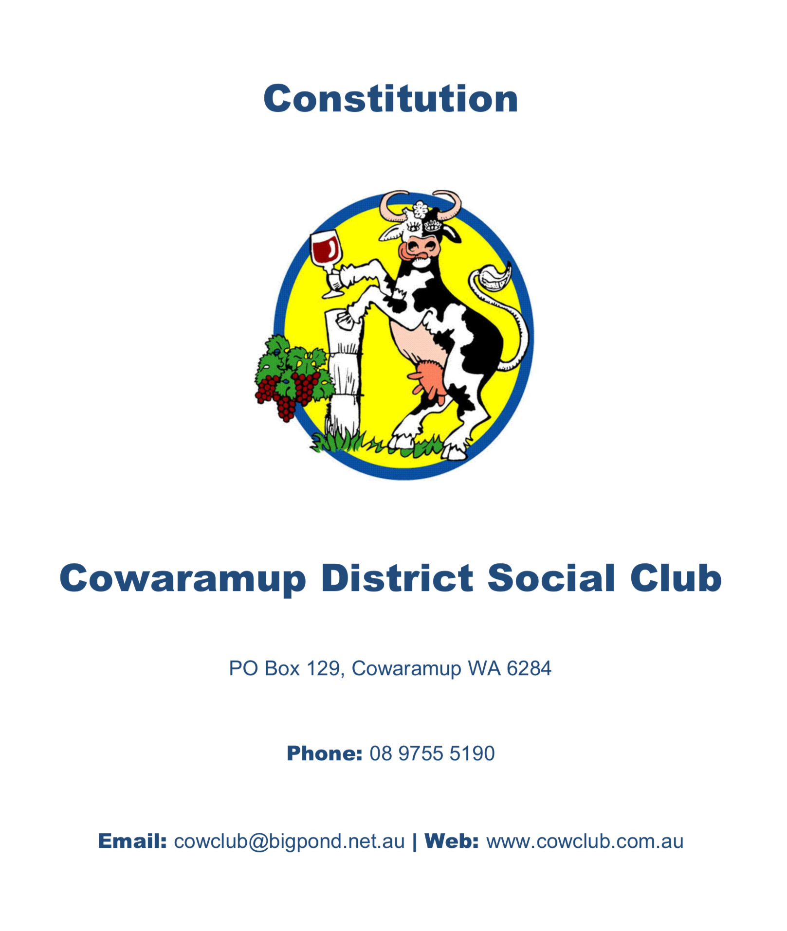 constitution cover page